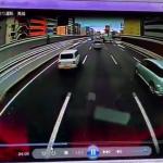 阪神高速道路であおり運転被害に遭う撮影者の様子