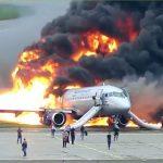 炎上する飛行機