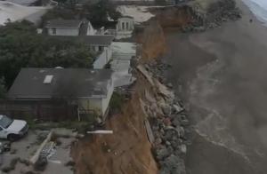 パシフィカの海岸浸食の様子