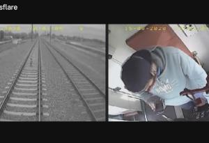 電車についていたカメラがとらえた様子