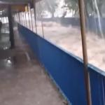 ブラジルで発生した大洪水の様子