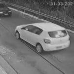 警察から逃げる白い車