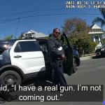 現場にかけつけた警察官