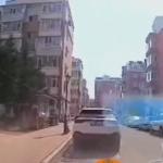 爆発直前のアパートの様子