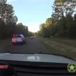 容疑者を追跡するパトカー