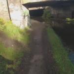 見通しの悪い橋の下