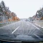 雨の山陽自動車道