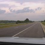 追突される直前のパトカーのダッシュカム映像